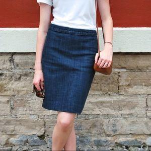 J. Crew Factory Denim Pencil Skirt